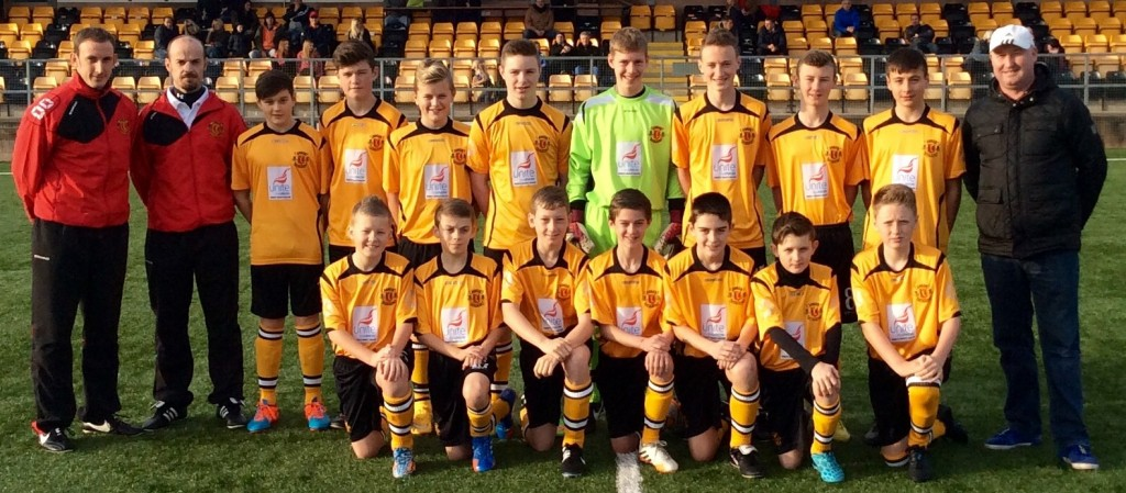 U14's Squad with Coach and Sponsor 2014