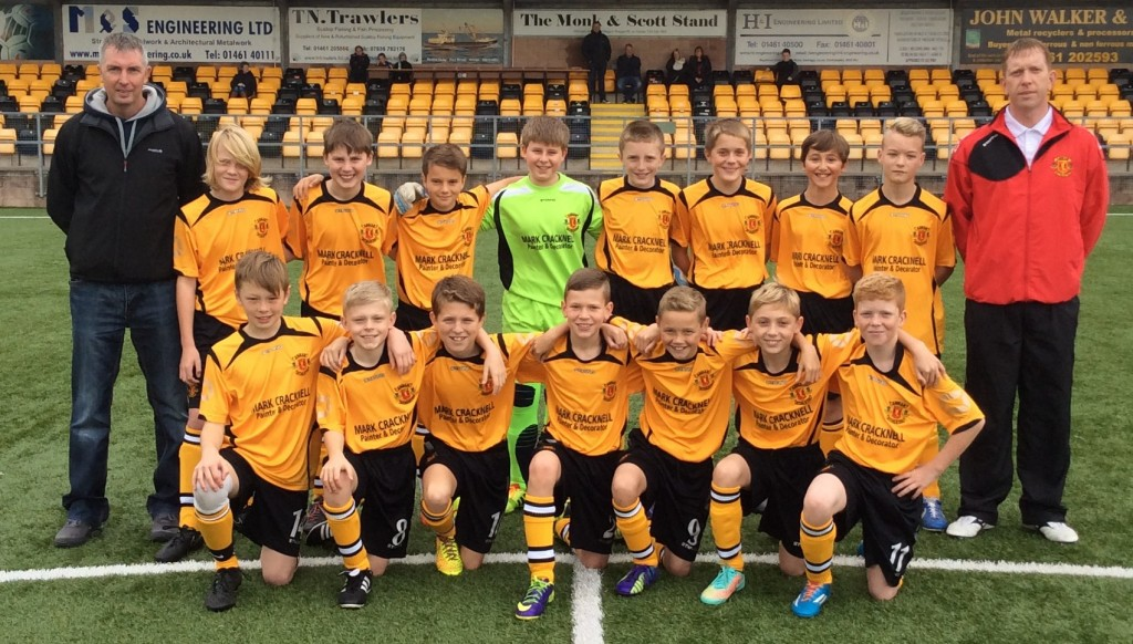 AAFC Under 13's 2014/15. Sponsor Mark Cracknell & Coach Charlie McCulloch
