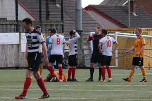 East Stirlingshire red card. 16.04.2016